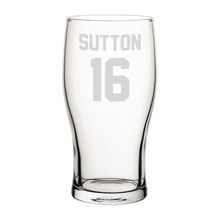 Load image into Gallery viewer, Blackburn Sutton 16 Engraved Pint Glass