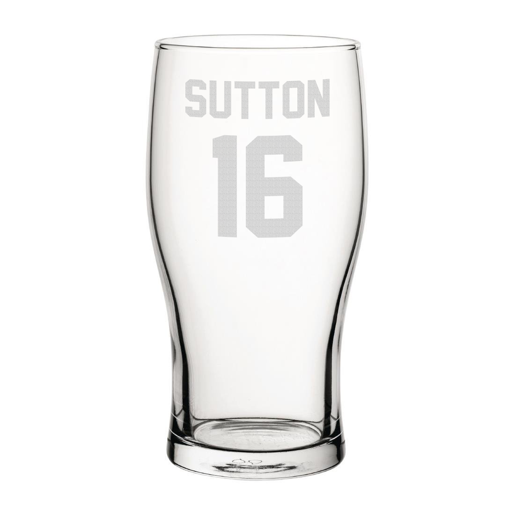 Blackburn Sutton 16 Engraved Pint Glass