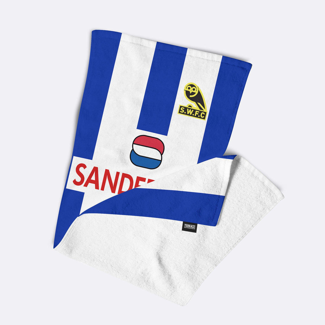 Official Sheffield Wednesday '92 Home Beach Towel-Towels-The Terrace Store