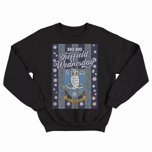 Sheffield Wednesday Ho Ho Crest Christmas Sweater