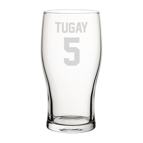 Blackburn Tugay 5 Engraved Pint Glass