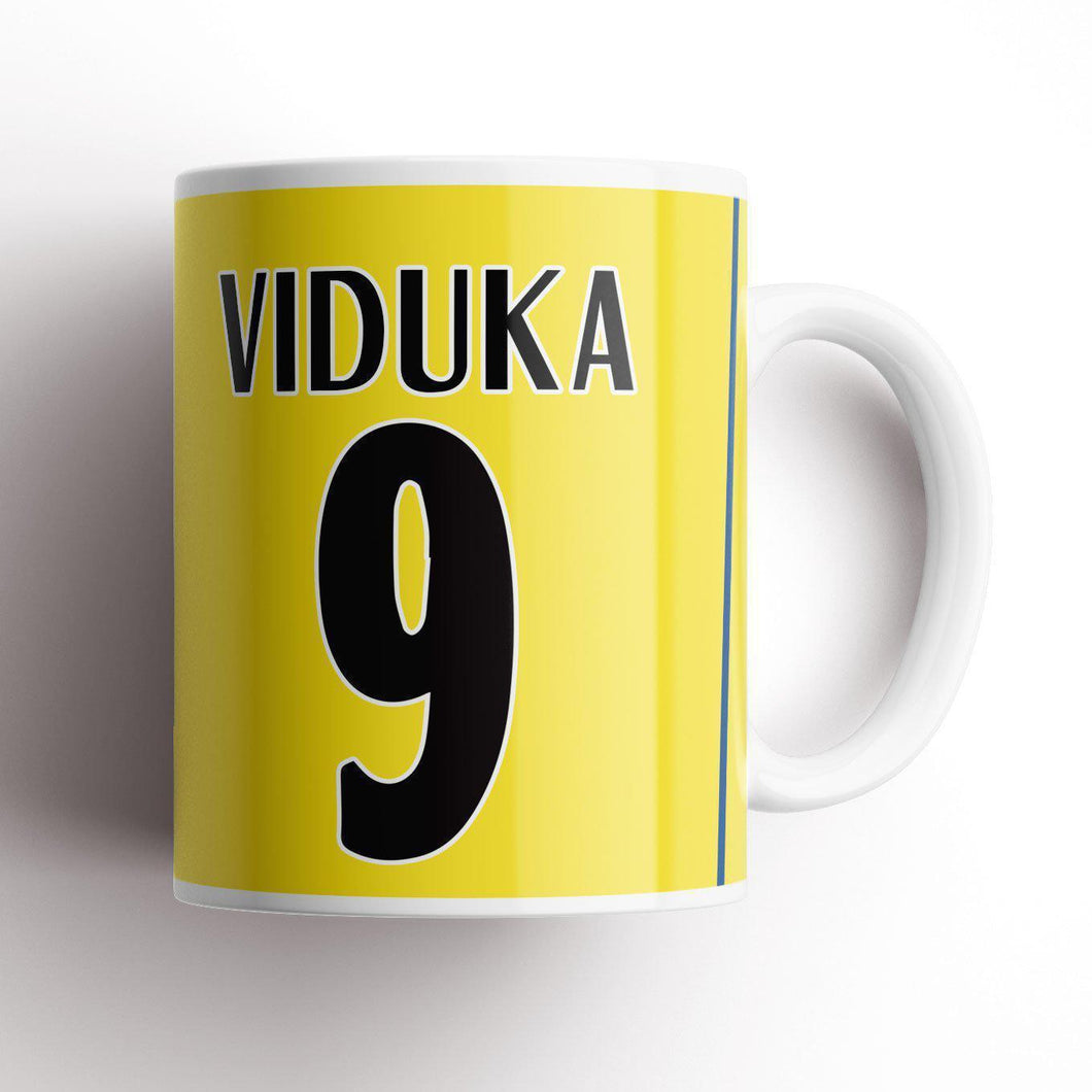 Leeds Viduka 2001 Champions League Kit Mug-Mugs-The Terrace Store