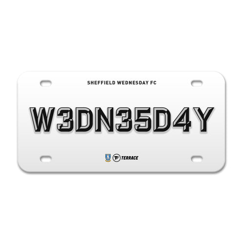 Sheffield Wednesday License Plate