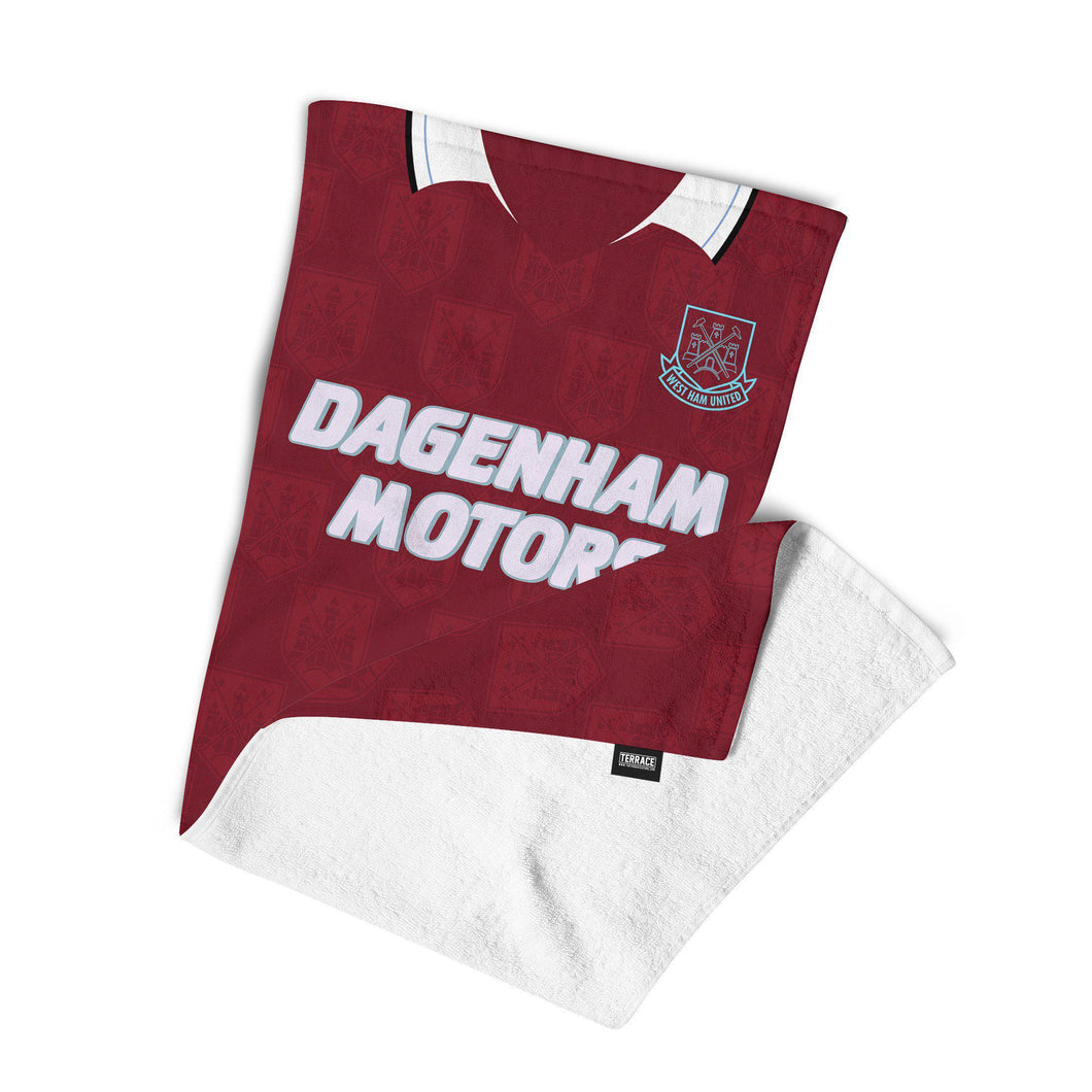 West Ham United 1993 Kit Towel-Towels-The Terrace Store