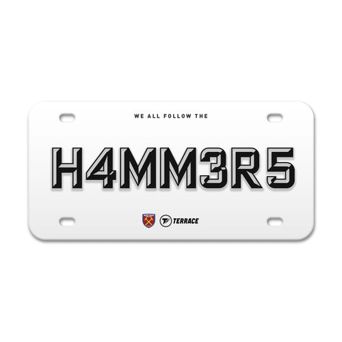West Ham Hammers License Plate