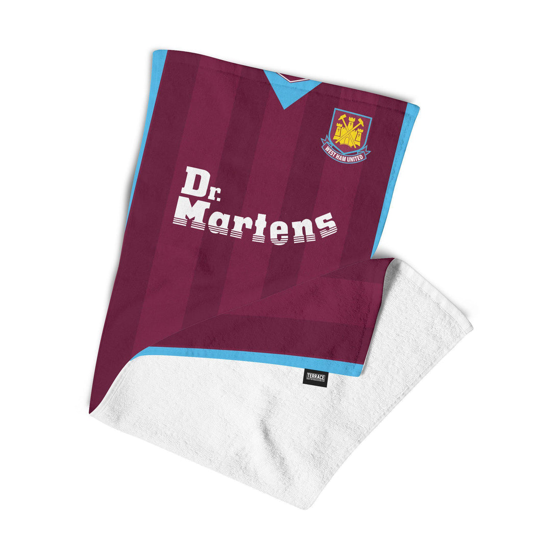 West Ham United 1999 Kit Towel-Towels-The Terrace Store