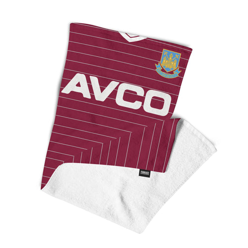 West Ham United 1986 Kit Towel-Towels-The Terrace Store