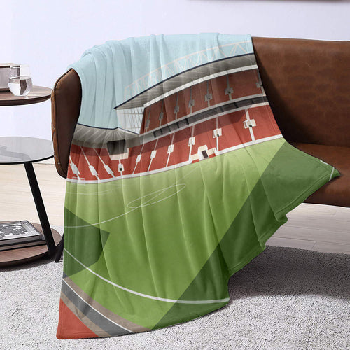 Ashton Gate Illustrated Blanket Throw-Blanket-The Terrace Store