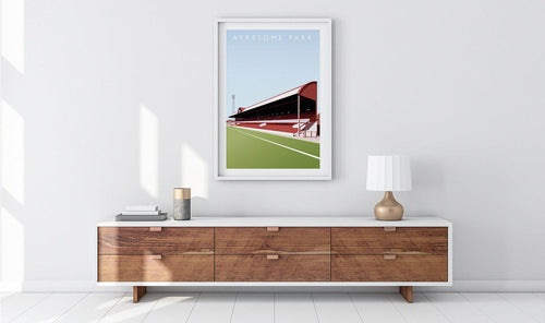 Ayresome Park Illustrated Poster-Posters-The Terrace Store