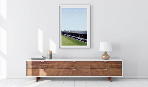 Baseball Ground Illustrated Poster-Posters-The Terrace Store