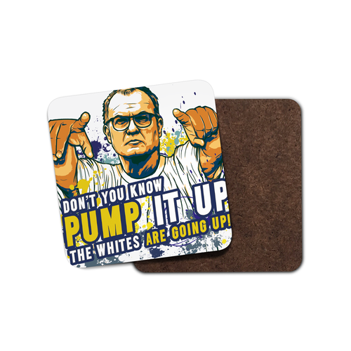 Grady Draws Leeds Bielsa Pump It Up Coaster