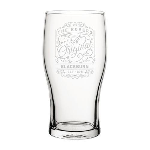 Blackburn Originals Engraved Pint Glass