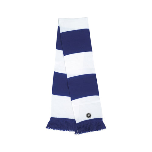 Terrace Blue & White Bar Scarf