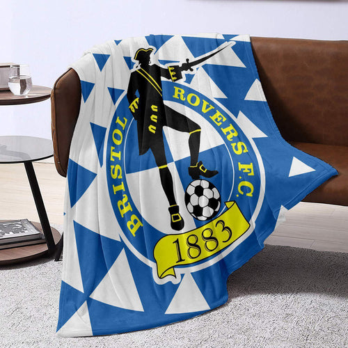Bristol Rovers Club Badge Blanket Throw-Blanket-The Terrace Store