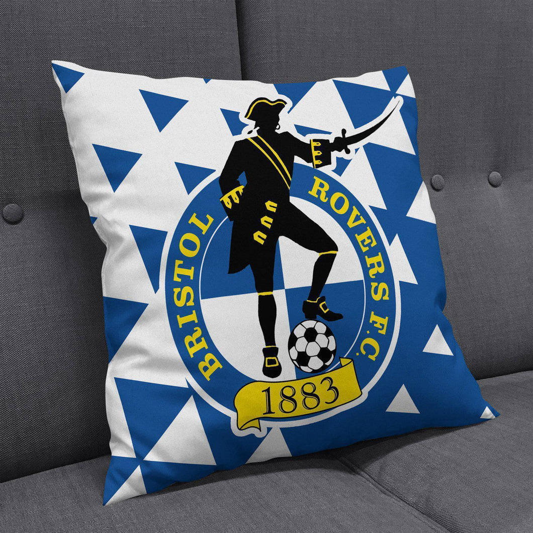 Bristol Rovers Club Badge Cushion-Cushions-The Terrace Store