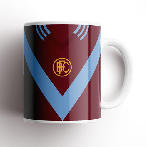 Official Burnley Chevron Retro Mug-Mugs-The Terrace Store