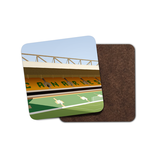 Carrow Road Illustrated Coaster-Coaster-The Terrace Store