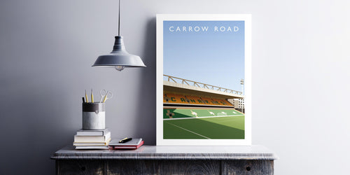 Carrow Road Illustrated Poster-Posters-The Terrace Store