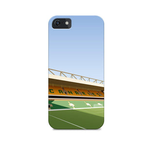Carrow Road Illustrated Phone Case-CASES-The Terrace Store