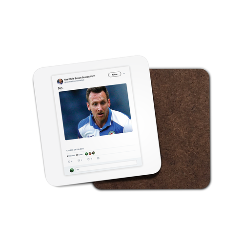 Undr The Cosh Chris Brown Coaster