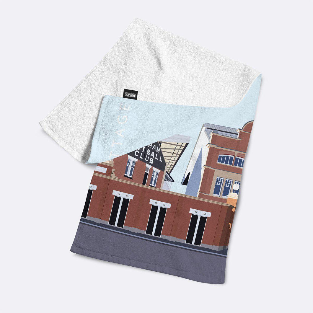 Craven Cottage Illustrated Towel-Towels-The Terrace Store