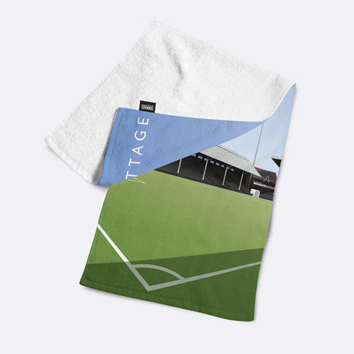 Craven Cottage Johnny Haynes Stand Illustrated Towel-Towels-The Terrace Store