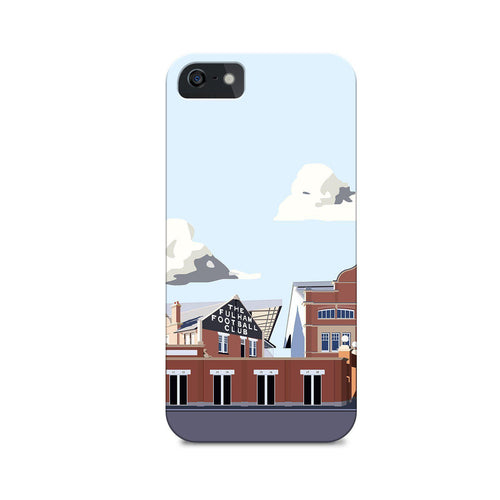 Craven Cottage Stadium Illustrated Phone Case-CASES-The Terrace Store