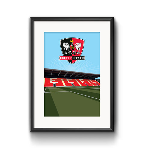 Exeter City Stadium Print