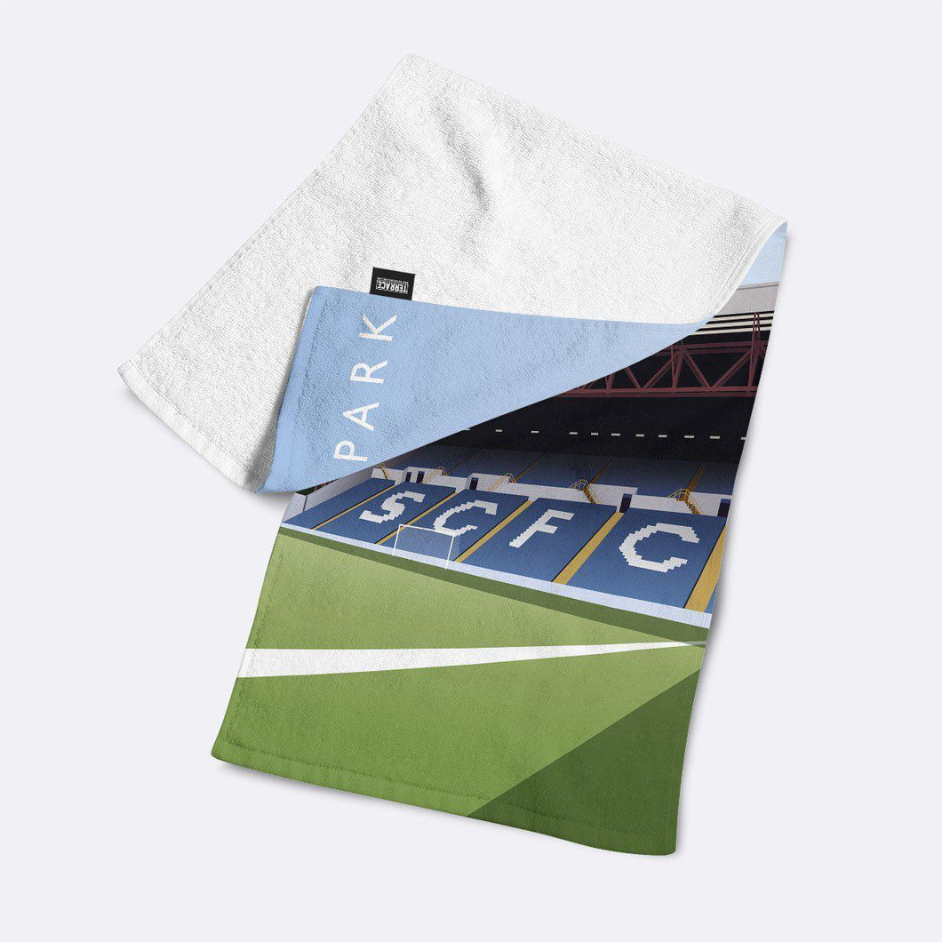 Edgeley park Illustrated Towel-Towels-The Terrace Store