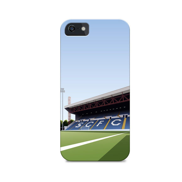 edgeley park illustrated phone case
