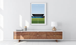 Elland Road Illustrated Poster-Posters-The Terrace Store