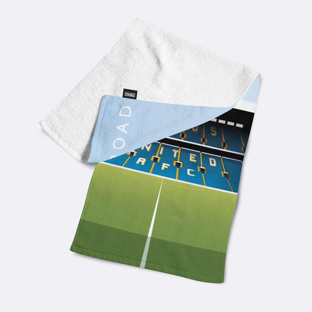 Elland road Illustrated Towel-Towels-The Terrace Store