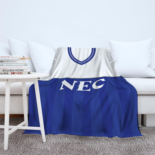 Everton 1986 Home Retro Blanket Throw