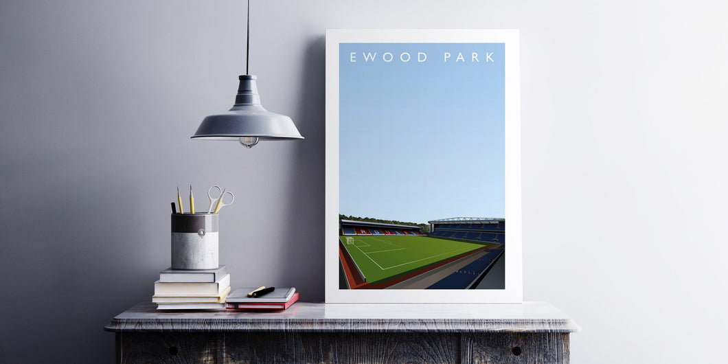 Ewood Park Illustrated Poster-Posters-The Terrace Store