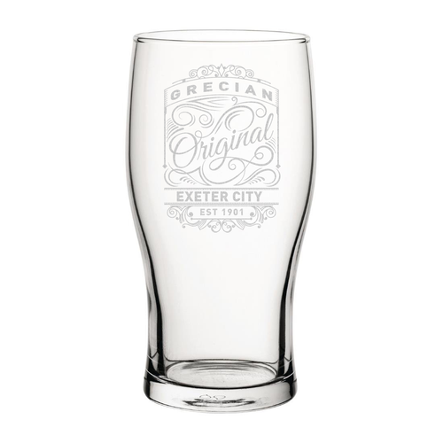 Exeter City Originals Engraved Pint Glass