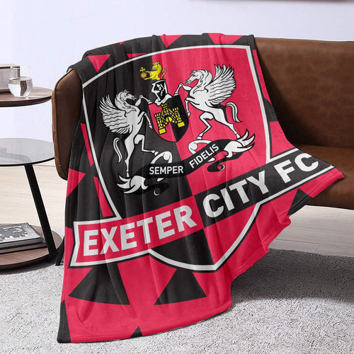 Exeter City Badge Blanket Throw