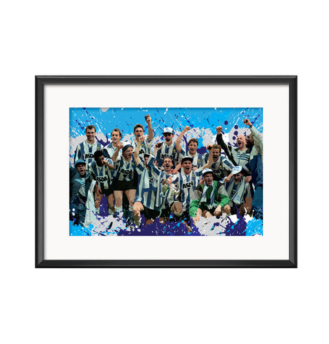 Sheffield Wednesday 1991 Final Squad illustration Print