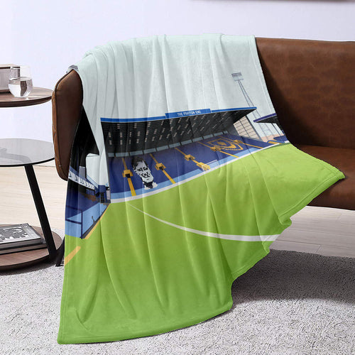 Portsmouth Fratton Park Illustrated Blanket Throw-Blanket-The Terrace Store