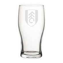 Load image into Gallery viewer, Fulham Crest Engraved Pint Glass