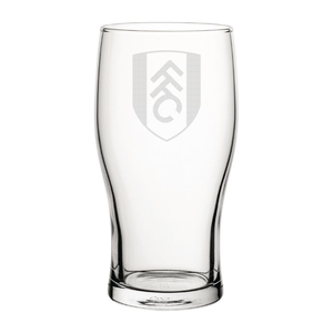 Fulham Crest Engraved Pint Glass-Engraved-The Terrace Store