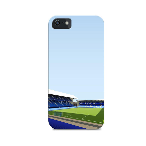 goodison park illustrated phone case