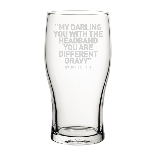 Different Gravy Engraved Pint Glass-NCH MUG-The Terrace Store