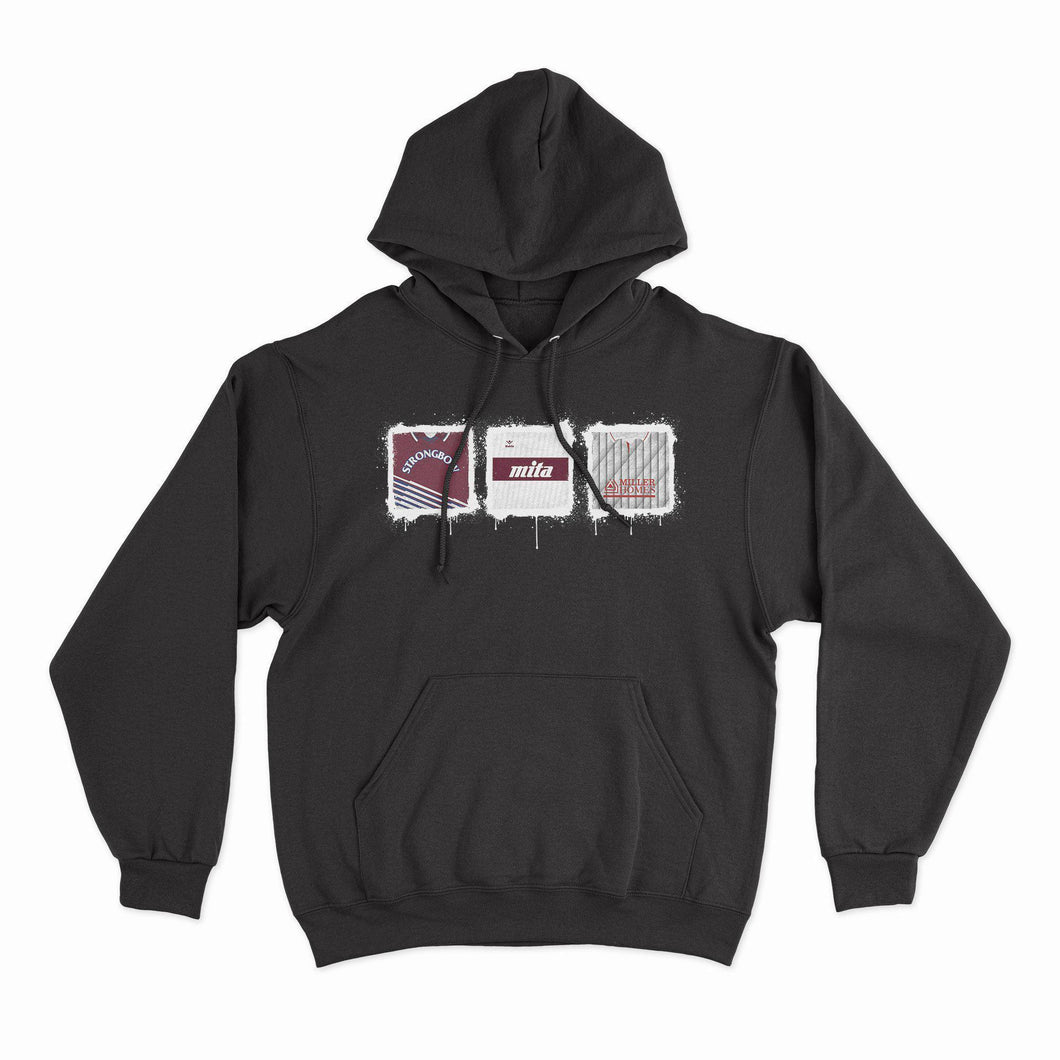 Hearts Kit Culture Black Hoodie-Hoodie-The Terrace Store