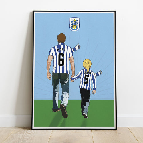 Huddersfield Town Hand In Hand Dad Print