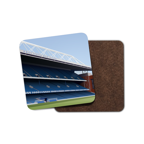 Ibrox Illustrated Coaster-Coaster-The Terrace Store