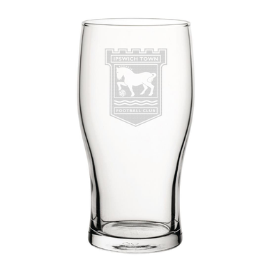 Ipswich Town Engraved Pint Glass