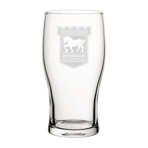 Ipswich Town Engraved Pint Glass-Engraved-The Terrace Store