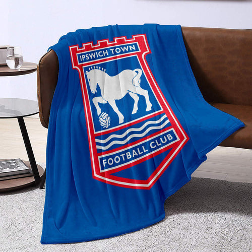 Ipswich Town Badge Blanket Throw-Blanket-The Terrace Store