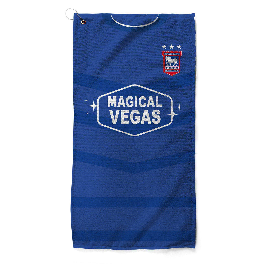 Ipswich Town 2019 Home Golf Towel-Golf Towels-The Terrace Store