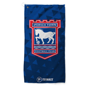 Ipswich Town Club Badge Golf Towel-Golf Towels-The Terrace Store